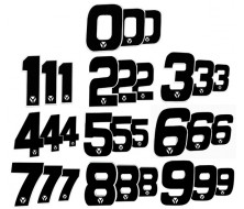 Numero de Plaque YCF 12cm (vendu par 3)