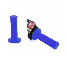 Quick Throttle + Grips Blue