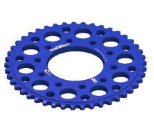 Couronne 420 CNC Bleu YCF 5 trous (41, 43, 45 Dents)