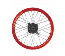 "Roue avant 14"" Rouge alu 15mm Dirt Bike"