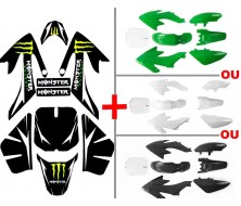Set Graphics Kit Monster Energy Original + Plastics Kit CRF50