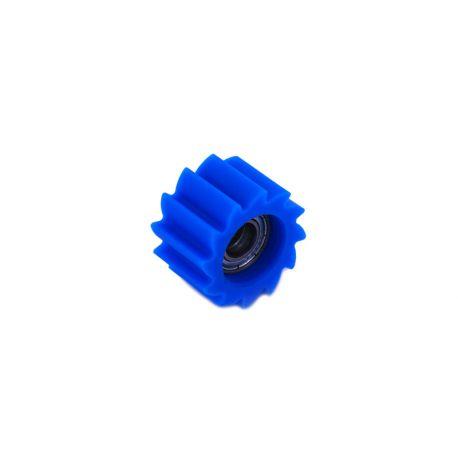 Roulette de chaîne crantée