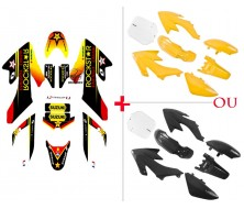 Set Graphics Kit Rockstar Energy + Plastics Kit CRF50
