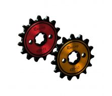 Racing Front Sprocket 420 13D 17mm Yellow