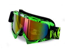 Off Road Googles Black/Green Smoked