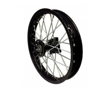 """Roue Avant 12"""" Noir acier (12/15mm) Dirt Bike"""