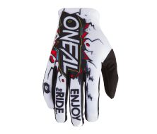 Off Road Gloves O'Neal Element Villain Blanc