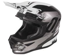 CASQUE SHOT KID SHADOW BLACK-WHITE GLOSSY