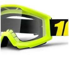 Masque Cross 100% Strata Jaune Fluo