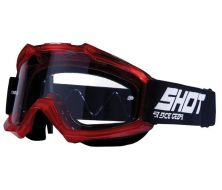Off Road Googles SHOT TRANSPARENT ROUGE