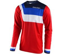 Maillot TROY LEE DESIGNS Air prisma - Red