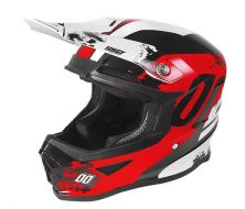 Casque SHOT Furious Shadow Red-White Glossy