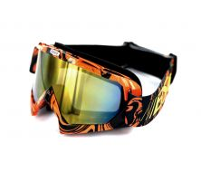 Protection visage Cross Noir / Orange