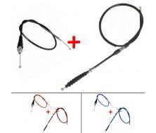 Cable d'accélérateur + embrayage Noir (classique) pour Dirt Bike