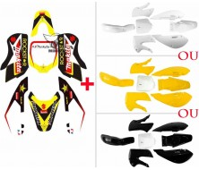 Set Graphics Kit Rockstar Energy + Plastics Kit KLX