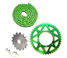 Pack Chaine CNC YCF Vert (420/17mm)
