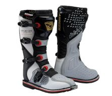 Bottes KENNY RACING Track silver black