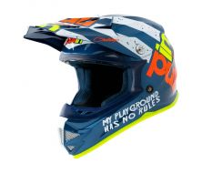 Casque Trash PULL-IN navy et orange