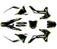 Kit déco Probike type KTM Vert