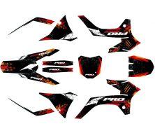 Kit déco Probike type KTM Rouge