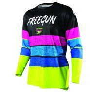 Maillot SHOT FREEGUN Stripe Neon/Yellow/Bleu/Pink (2021)