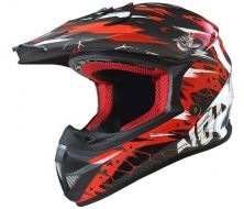 Casque Enfant NO-END Cracked Noir / Rouge
