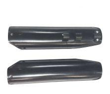 protection de fourche noir H-260mm Entre-axe entre chaque fixation: 30mm