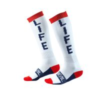 Chaussette O'NEAL PRO MX MOTO LIFE WHITE/RED/BLUE (Taille Unique)