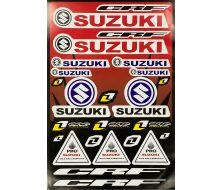 planche de stickers suzuki