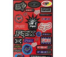 planche de stickers fox Gris