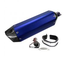 Silencieux Echappement Inox Bleu MAT Twpo 31mm/38mm