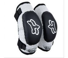 Fox Racing Titan Kids Elbow Guards Black/Silver MD/LG AGES 6-9