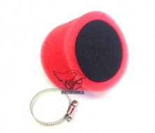 Air Filter double foam Black/Red 38mm