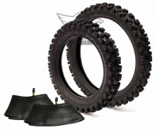 """Set of Tyre Guangli 12"""" Rear/14"""" Front + Inner Tube"""