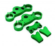 Green Clamp Alloy 45/48mm + Triple Clamp 22mm