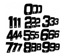 Numero de Plaque YCF 18cm (vendu par 3) pour Dirt Bike, Pit bike