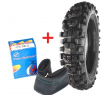 "Set Tyre Cross Vee Rubber + Inner Tube 12"" Rear"