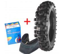 """Set Tyre Cross Vee Rubber + Inner Tube 12"""" Rear"""