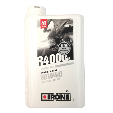 Huile Moteur IPONE 4T R4000rs 10W40 Semi-Synthese 2L pour Dirt Bike