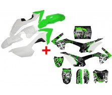 Set Graphics Kit FREEGUN Zombie + Plastics Kit CRF110 Green
