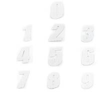 Numero de Plaque CRZ Blanc 12 cm (vendu par 3)