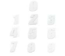 Plaque Number CRZ 11cm - White
