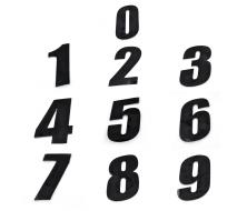 Numero de Plaque CRZ Noir 12 cm (vendu par 3)