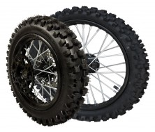 """Complete Big Wheel Package 14"""" rear / 17"""" front Guangli (Axle 15mm)"""