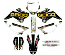 GRAPHIC KIT YCF CAMO GEICO