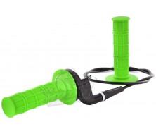 kit poignee verte avec tirage rapide et cable de gaz