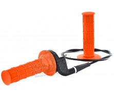 kit poignee orange avec tirage rapide et cable de gaz