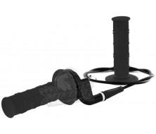 kit poignee noire avec tirage rapide et cable de gaz