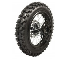 "Roue complete 12"" Arriere axe de 12mm Noir Dirt Bike"
