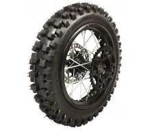 "Roue complete 14"" Arriere axe de 15mm Noir Dirt Bike"